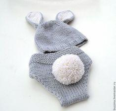 Костюм для фотосессии, комплект для фотосессии, костюм зайчика, комплект зайчик, трусики на памперс, трусиках на подгузник, трусики для фотосессии, трусики для новорожденного,штанишки на подгузник. Knitted Hats, Crochet Hats, Winter Hats, Knitting, Fashion, Knitting Hats, Moda, Tricot, Fashion Styles