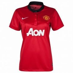 13 14 Manchester United Womens Jersey Home Soccer Jersey Nike Red Camiseta  Manchester United c6126c1fd