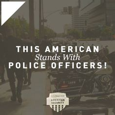 Facebook graphic for Citizens for American Security, asking people to share if they stand with police officers. Our team can help you plan and execute a strong digital media campaign. See more of our work and learn how Harris Media can help your team succeed: www.harrismediallc.com