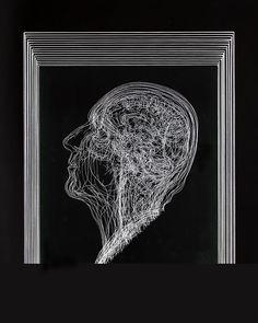 Glass Robert Harris Portrait