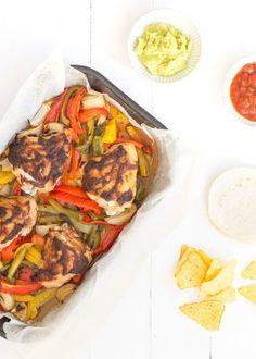 kip fajita's uit de oven #chicken