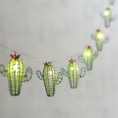 For a fabulous, intimate lighting accent, think small. Our battery-powered Cactus Glimmer Strings® use tiny (some would say magical) LEDs the size of a grain of rice strung along shapeable, thread-sized silver filament to create an almost weightles My New Room, My Room, Dorm Room, Deco Cactus, Cactus Cactus, Indoor Cactus, Mini Cactus, Indoor Succulents, Small Cactus