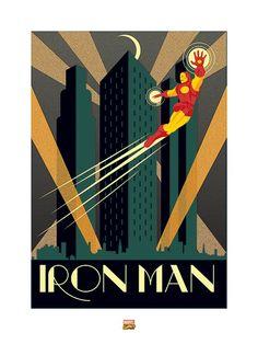 Iron Man Vintage Speziell Plakat Art Plakat Groß Format A0 Groß Druck