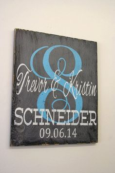 perfect gift the the new couple this is a wood sign the background is monogram wedding
