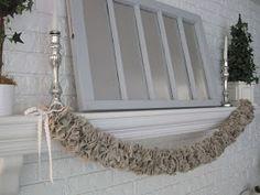{Beautiful Nest}: Ruffled Linen Garland {And Tutorial}