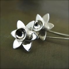 Daffodil Earrings  Spring is in the Air  Handmade Sterling by erga