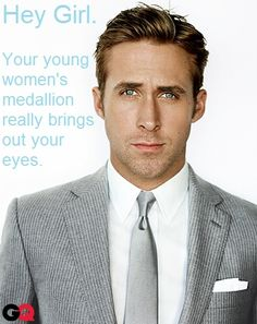 Hey girl. Your young women's medallion really brings out your eyes.