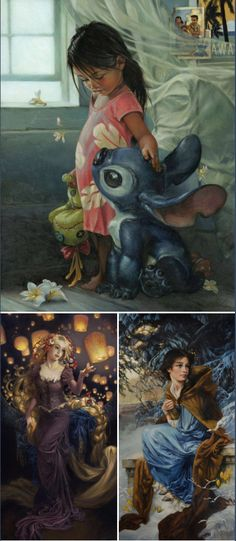 Disney Character Oil Paintings - Created by Heather Theurer