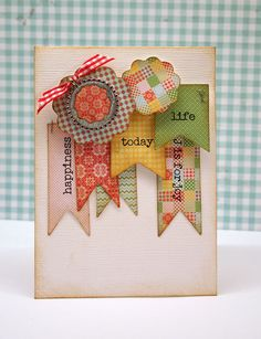 Joy Pennant Card by bellepapierbyjulia on Etsy, $4.00