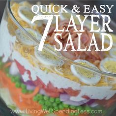 Quick & Easy 7 Layer Salad