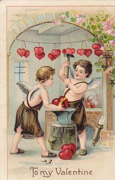 1909 Vintage Valentine Postcard