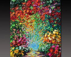 Oil Painting ART Abstract Contemporary Fine Art Modern por bsasik