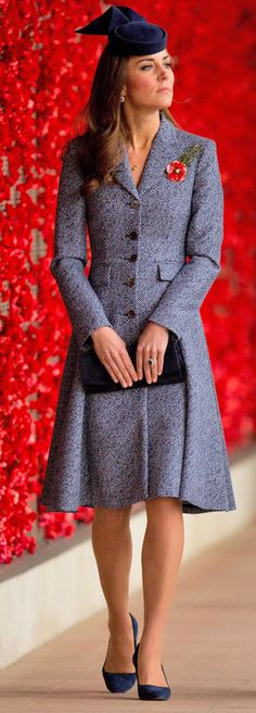 Last Hurrah! from Kate Middleton's Mommy Style For her last day on the royal tour Kate went with a Micheal Kors coat dress with a Jonathan Howard hat.
