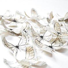 White butterflies paper butterflies nursery wall decor 50th