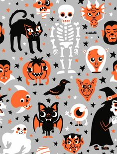 Halloween, wallpaper, and background image Retro Halloween, Halloween Patterns, Halloween Items, Halloween Pictures, Holidays Halloween, Halloween Crafts, Happy Halloween, Halloween Decorations, Halloween Fabric