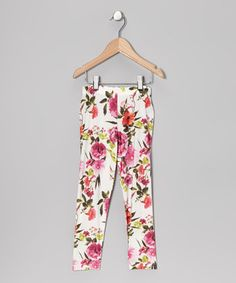 Hitting kid-friendly comfort while staying on trend, these quality-made leggings fit girls like a glove and come printed in a floral design that's fresh for the season.