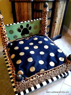 Dog bed from upside down table.