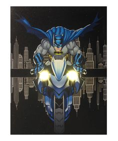 Look at this Batcycle Light-Up Canvas on #zulily today!