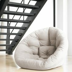 Nest Small Futon in Natural, SO COOL!
