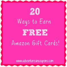 Stop spending so much cash on Amazon! Use these 20 Ways to Earn FREE Amazon Gift Cards to build your stash!