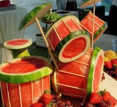 Watermelon Drumset. Do you play this or eat it?