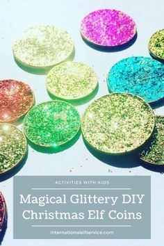 These magical DIY Christmas Elf coins are a great idea to make with your kids over the Christmas holidays. They're also the perfect accessory for your Elf on the Shelf to use in all the adventures and mischief he or she will cause in the lead up to the big Ho, Ho, Ho! Diy Christmas Elves, Christmas Stocking Fillers, Magical Christmas, Christmas Stockings, Christmas Holidays, Christmas Decorations, Christmas Activities, Craft Activities, Tooth Fairy