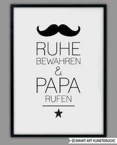 """Vatertagsgeschenk unter 10 Euro: Druck """"Ruhe bewahren und Papa rufen"""""""