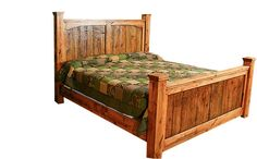 Rustic Reclaimed Barnwood Queen Bed Dusty Roads Collection