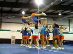 Awesome movement and use of skills in this pyramid. Def saving for inspiration. #cheercoach #pyramid #stunts