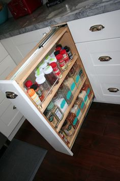 Ikea kitchens....how is the quality? - Kitchens Forum - GardenWeb  Oven door front on 3d pty mfg. spice pull-out.