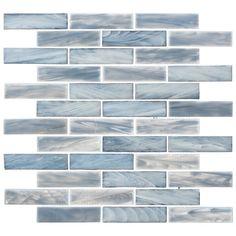 Beveled Glass, Mosaic Glass, Glass Tile Bathroom, Glass Pool Tile, Blue Glass Tile, Bathroom Ideas, Tile Bathrooms, Farmhouse Bathrooms, Coastal Bathrooms