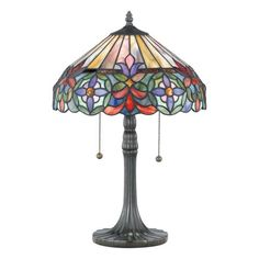 QUOIZEL CONNIE 22-INCH TIFFANY TABLE LAMP  - Click image twice for more info - See a larger selection of tiffany table lamps at http://tablelampgallery.com/product-category/tiffany-table-lamps/ - home, home decor, home ideas, lightning, gift ideas, lamp.