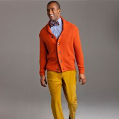 gotta love a man who dresses colorfully!