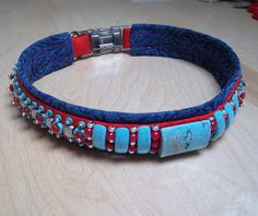 Items similar to Western Luxury Dog Collar Handmade & Beaded with Turquoise and Silver on Etsy Handmade Dog Collars, Handmade Gifts, Luxury Dog Collars, Bead Sewing, Red Silk, Vintage Japanese, Glass Beads, Turquoise, Pets