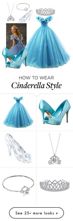 """Cinderella"" by prettyfashionist on Polyvore featuring Disney, Swarovski, Bling Jewelry and rsvp"