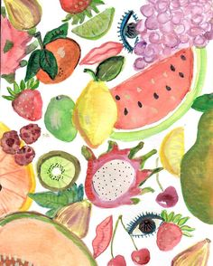 Guess what ? My dream to create textiles is becoming a reality thanks to #thesecret and my amazing friend @apprvl  we're teaming up to create this juicy fruit print in silk kerchief form  stay tuned because your neck never knew life could be this delish #textiledesign