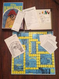 $13.99  221B BAKER STREET Master Detective Sherlock Holmes Board Game In Box 1977 Hansen #vintage #bakerstreet #sherlockholmes #1970s #vintage #game #boardgame #detective