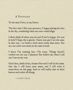 This is probably my favorite work of Lang Leav. I'm in awe its full of love. I'm