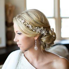 Side French Braid Low Wavy Bun Wedding Hairstyle | Side french ...