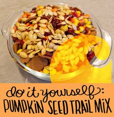DIY pumpkin seed trail mix on Crafted in #Carhartt