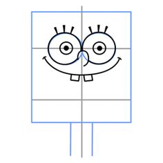 How to Draw Spongebob First Step. Think this would be cute on a yellow paper bag. I can use the bags for the party favors.