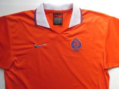 Netherlands home football shirt by Nike Nike Soccer, Nike Football, Football Jerseys, National Football Teams, Vintage Adidas, Ac Milan, Jersey Shirt, Netherlands, Holland