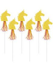 Glitter Magical Unicorn Wands 6ct Party City