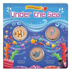 Under the Sea: Turn & Learn Board Book by Cottage Door Press, Multicolor