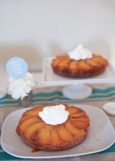 The Alison Show: Caramel Peach Upside Down Cake