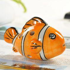 Ocarina | Tiny Cute 6 Hole Ceramic Alto C Tone Glazed Ocarina Musical Instrument Decoration for Kid / Adult