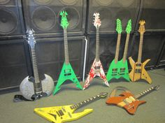 Choose Your Weapon - Damien Guitars, Battle Axe, Flying V, Double Neck Guitar