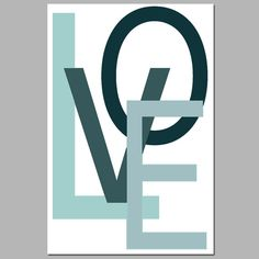 LOVE Wall Art Nursery Decor  11x17 Large Modern by Tessyla on Etsy