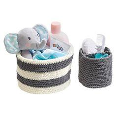InterDesign® Crochet 2-Pack Round Bins : Target