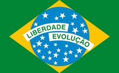 Estudo de desenvolvimento da bandeira do Brasil